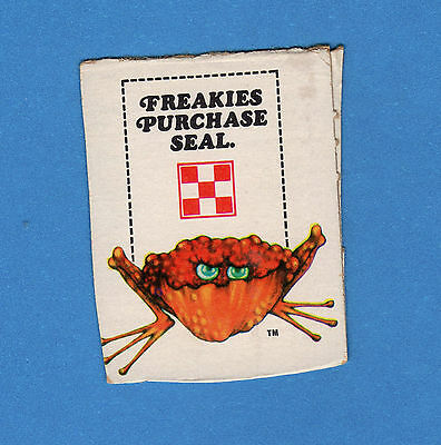 Vintage 1970s Ralston Purina Co FREAKIES CEREAL Purchase Seal cut from box