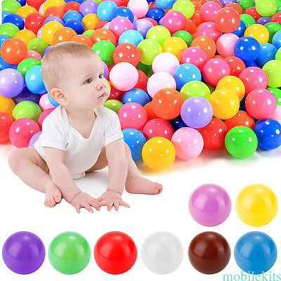 60pcs Kids Baby Soft Play Balls Toy for Ball Pit Swim Pit Ball Pool Colorful New