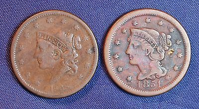 1838 and 1851  Large Cents