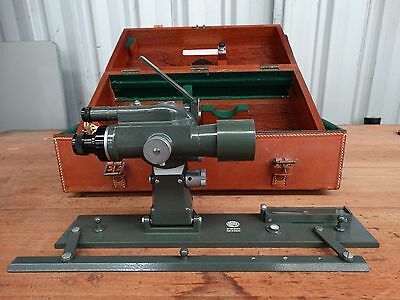 Hilger & Watts Microptic Alidade with wooden & leather cases VGC - Surveying