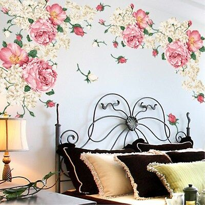 FLOWER Wall Art Stickers Removable Vinyl Decal Mural Home ...