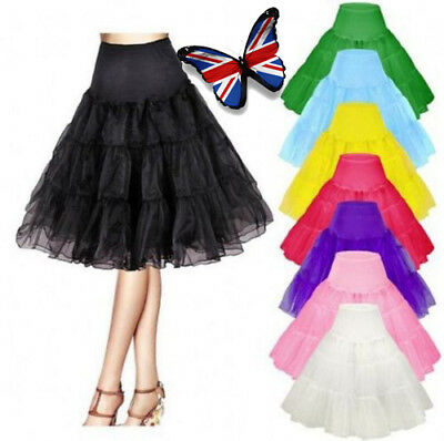 "26"" Retro Underskirt 50s Swing Vintage Petticoat Rockabilly Tutu Fancy Net Skirt"
