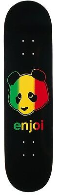 Enjoi Skateboards Deck Rasta Panda 8.125 R7 Free Grizzly Grip Skateboard Skate