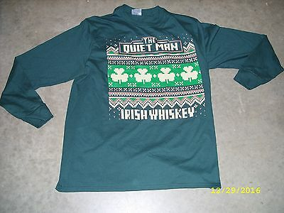 The Quiet Man Irish Whiskey - Promo Long Sleeve T-Shirt Large L *NEW*