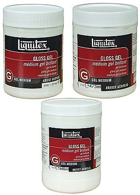 Liquitex Professional Medium Gloss Gel Artist Paint Quality Art 3 Sizes Acrylic