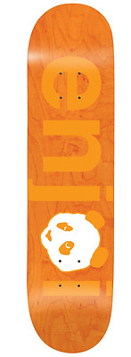 Enjoi Skateboards Deck No Brainer 7.75 Orange Epoxy Free Grip Skateboard