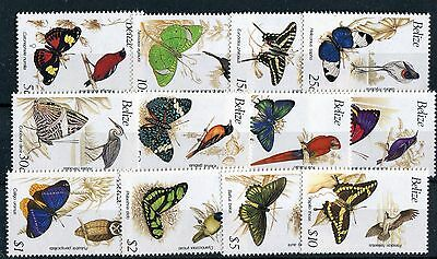 Belize QEII 1990 Birds & Butterfly definitive set of 12 SG1067A/78A MNH