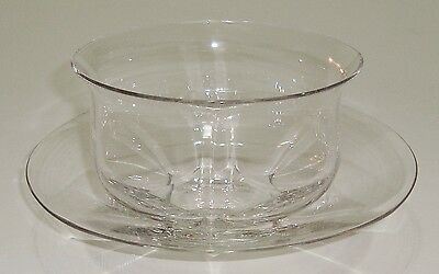 Beautiful Vintage Webb Crystal Bowl & Saucer
