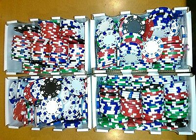 Poker Chips 11.5gm Tray 200pc - Kids Toy - Gifts for Children. P/up Narre Warren