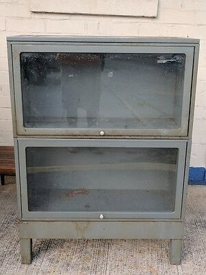 Glass Door Barrister Cabinets  w/ top and base ~ US Gov't FWPCA