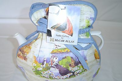 Muff / Open Top Tea Cosy British Made  Puffin Gallery.  Lovely topical
