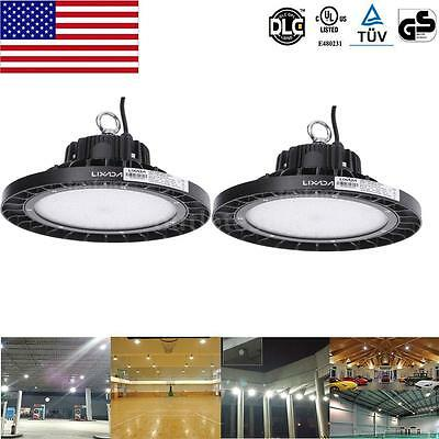 2X 100W Bright IP66 Aluminum alloy LED High Bay Lamp Industrial Garden UPS Q3Z8