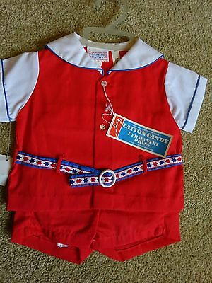 Vintage  Boys  Outfit Size 12 month  NWT  Appropriate  DOLL Outfit