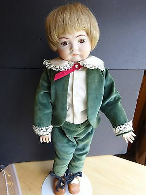 """Vintage Reproduction 16"""" Boy Doll  outfit. Velvet Pants, Jacket, Top  NO DOLL"""