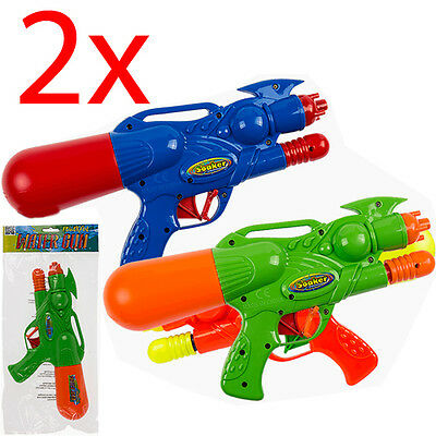 2 X 28Cm Water Gun Pump Action Super Soaker Sprayer Outdoor Beach Garden Toy New