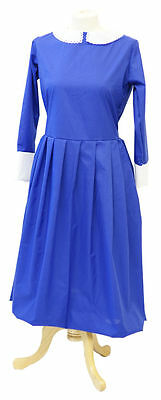 VICTORIAN/HISTORICAL/1940'S/WARTIME Girls Blue Nanny/Governess Dress All Ages