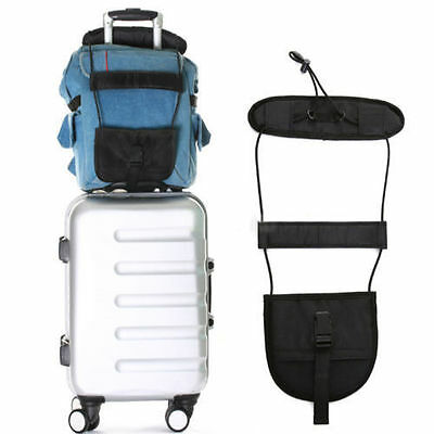 2pcs Add A Bag Strap Luggage Suitcase Adjustable Belt Carry On Bungee Travel UK