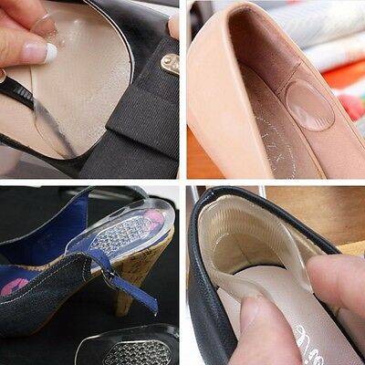 GEL INSOLE Heel Arch Ball Of Foot Feet Support Protection Pad High Shoe Insert