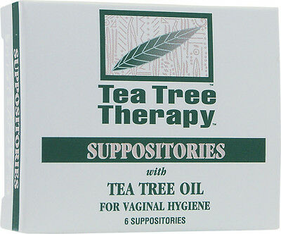 Suppositories with Tea Tree Oil, Tea Tree Therapy, 6 piece