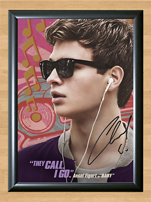 Baby Driver Ansel Elgort Signed Autographed A4 Photo Print Poster Memorabilia