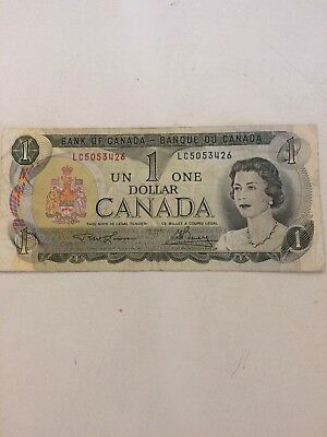 1973 - Canadian One dollar bill - $1 Canada note