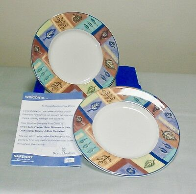 Two Royal Doulton Everyday Side Plates - Boxed