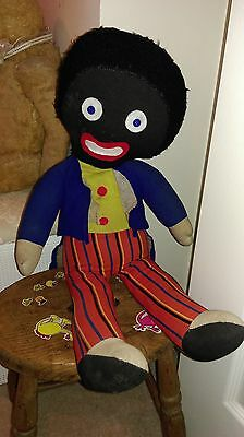 Antique vintage Chad valley/Chiltern  large cloth fabric boy doll with label