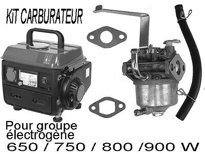 groupe electrogene Piece  kit CARBURATEUR  durite joints  650 700 800 900  950 w