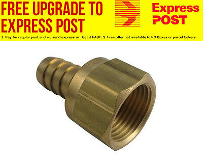 """Derale Swivel Hose & Barb Fitting -10AN Female With 1/2"""" Hose Barb"""