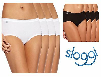 Sloggi Basic Midi Brief Knickers Pant 4 Pack 10068837 Black or White * New