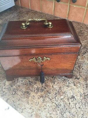 Antique Tea Caddy With Secret Compartment