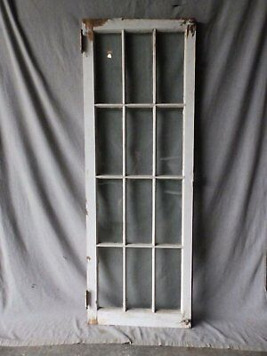 Antique French Door Window Cabinet Bookcase Casement Vtg Shabby 61x22 186-17P