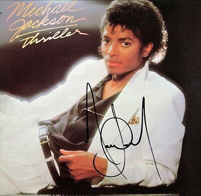 "Michael Jackson - Thriller Platinum Cherrywood Signature Display ""M4"""