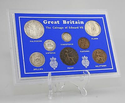 c.1902-10 Edward VII Coin Set/Collection - 8 Coin Set in Presentation Pack (KZ83