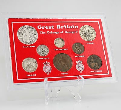 c.1914-18 George V Coin Set/Collection - 8 Coin Set in Presentation Pack (KZ84)