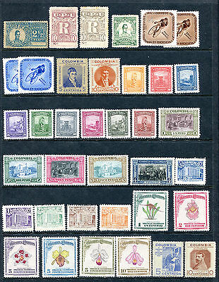 1899/1950 Colombia  Small Lot Of  See Photo  -  Mh  E045/46