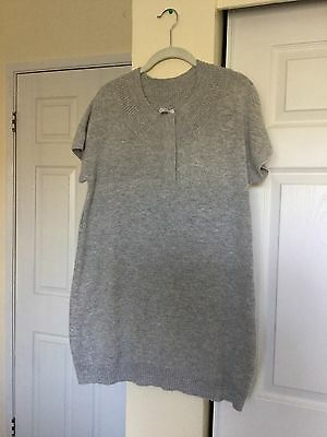 A Pea in a Pod Maternity Large Grey Sweater
