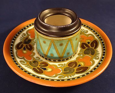 Rare Vintage Gouda Damiet Holland Pottery Ink Well c1930