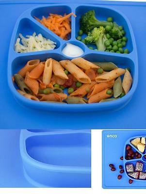 Two-In-One Silicone Suction Plate & Mat  Onco Baby Placemat (Blue) INFANT KID
