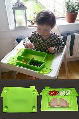 Design Placemat for Toddlers and Young Kids Baby Silicone Suction Plate - House