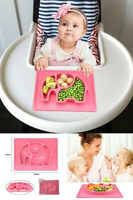 Silicone Baby Plates Fits Most Highchair Silivo Kids Placemat & Divide Plate