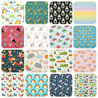 CHILDRENS KIDS NURSERY FABRIC Boy Girl Craft Polycotton Material per 1/2 metre