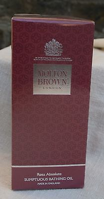 Molton Brown Rosa Absolute Sumptuous Bathing Oil 200ml New & Sealed