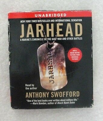JARHEAD by ANTHONY SWOFFORD Unabridged audio book on 8 CD's read by author