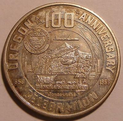 Oregon Statehood Centennial State Capitol 1959 So-Called Dollar HK-561
