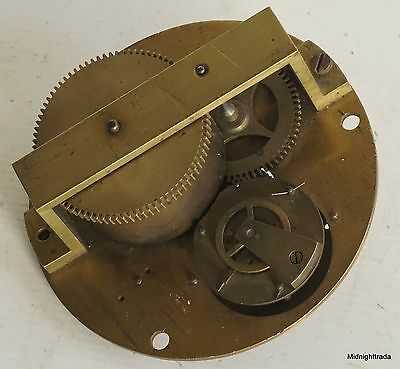 Very Unusual 19c Timepiece Movement with Watch Escapement