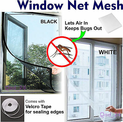 WINDOW MESH - Screen Net For Bugs Fly Insect Mosquito Grill Screen Cover Large