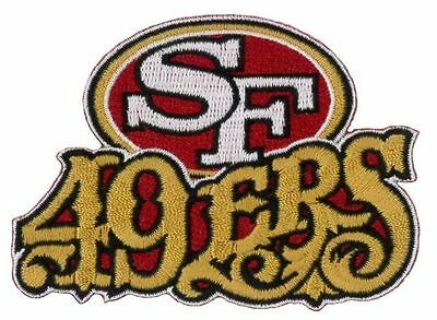 """SF San Francisco 49ers Vintage Rare Embroidered Iron On Patch 3.5"""" X 2.5"""""""