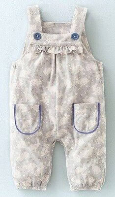 Brand new printed bunny Boden dungarees, 18-24