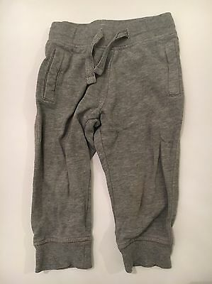 Baby Boys Grey Marl Jogger Jersey Trousers,12-18 Months,pockets,Good Condition